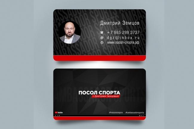 Сделаю дизайн визитки 87 - kwork.ru