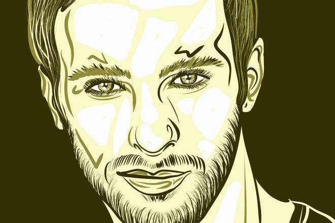 Портрет в стиле Поп - Арт векторный 9 - kwork.ru