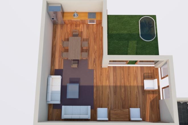 Создам планировку дома, квартиры с мебелью 11 - kwork.ru