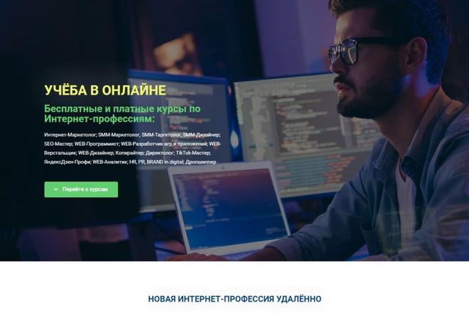 Создам простенький landing-page 1 - kwork.ru