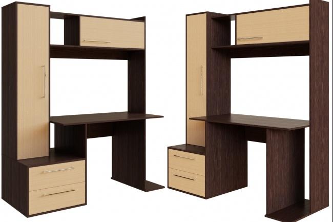 3D моделирование и визуализация мебели 129 - kwork.ru