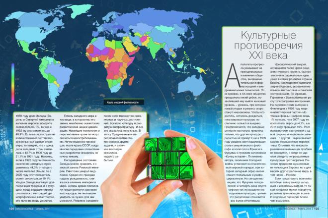 Верстка журнала, книги, каталога, меню 14 - kwork.ru