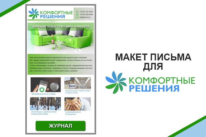 Создам html письмо для e-mail рассылки -адаптация + дизайн 43 - kwork.ru