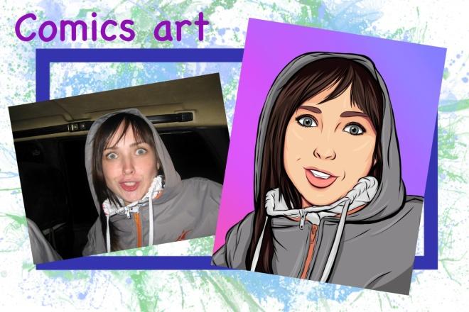 Нарисую портрет в стиле Pop Art,Comics Art, Stik Art 3 - kwork.ru