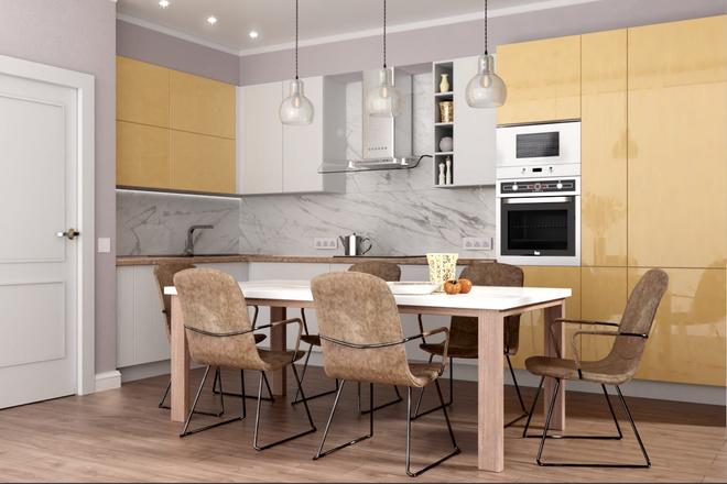 Дизайн-проект кухни. 3 варианта 27 - kwork.ru