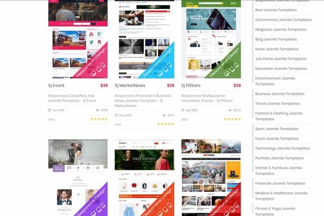 Joomla премиум набор шаблонов и расширений 4 - kwork.ru