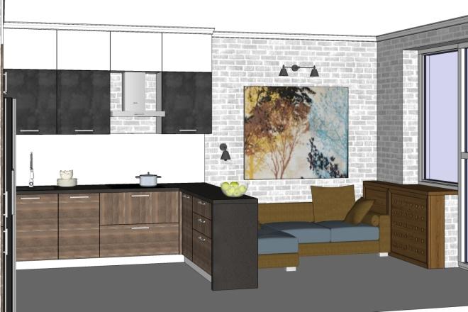Дизайн-проект кухни. 3 варианта 4 - kwork.ru