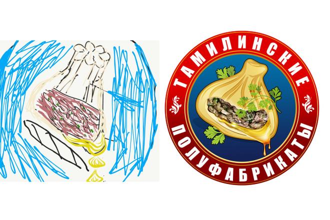 Сделаю логотип по вашему эскизу 52 - kwork.ru