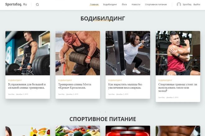 Создам автонаполняемый сайт на WordPress, Pro-шаблон в подарок 2 - kwork.ru