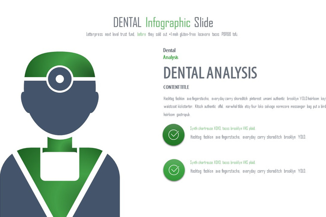 Инфографика на медицинскую тему. Шаблоны PowerPoint 13 - kwork.ru