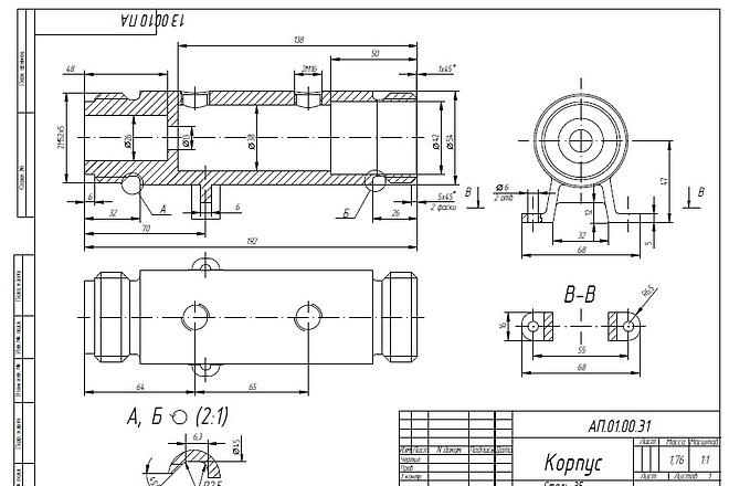 Выполню чертежи в AutoCad 82 - kwork.ru