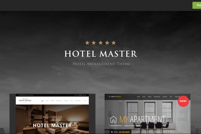 Тема Hotel Booking для WordPress на русском с обновлениями и плагинами 1 - kwork.ru