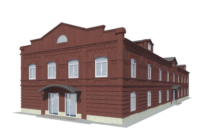 Визуализация экстерьера, фасадов здания 13 - kwork.ru