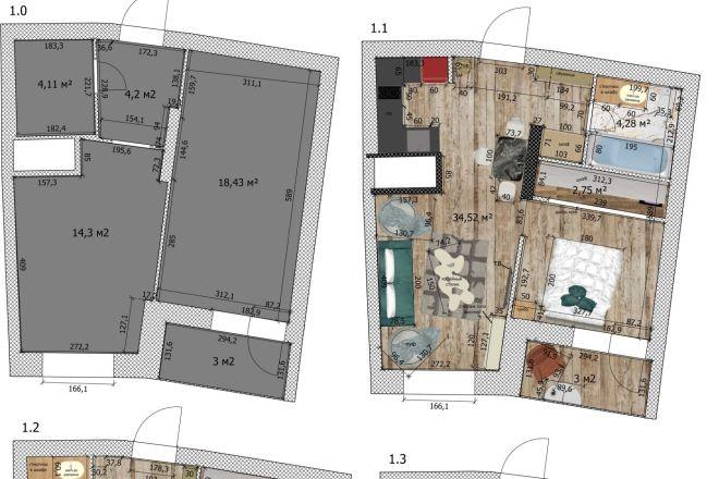 Интересные планировки квартир 27 - kwork.ru