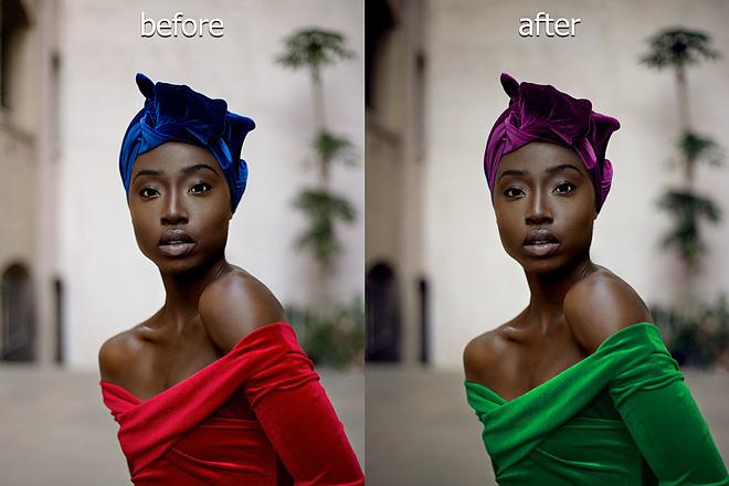 Высокопрофессиональная замена цвета одежды, волос и других объектов 10 - kwork.ru