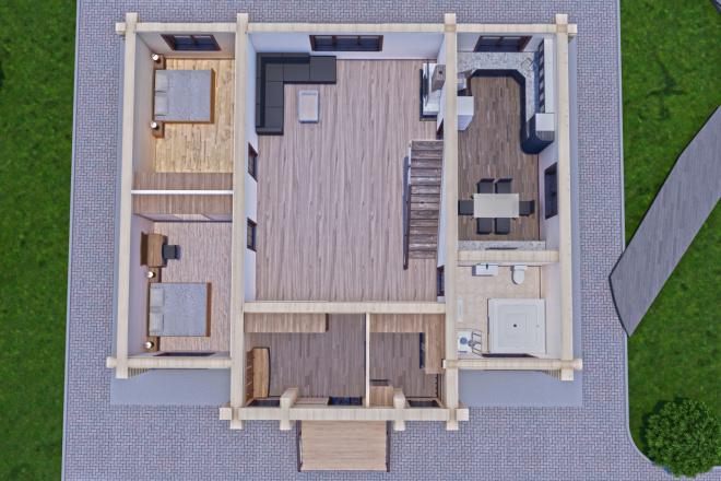 Фотореалистичная 3D визуализация экстерьера Вашего дома 95 - kwork.ru