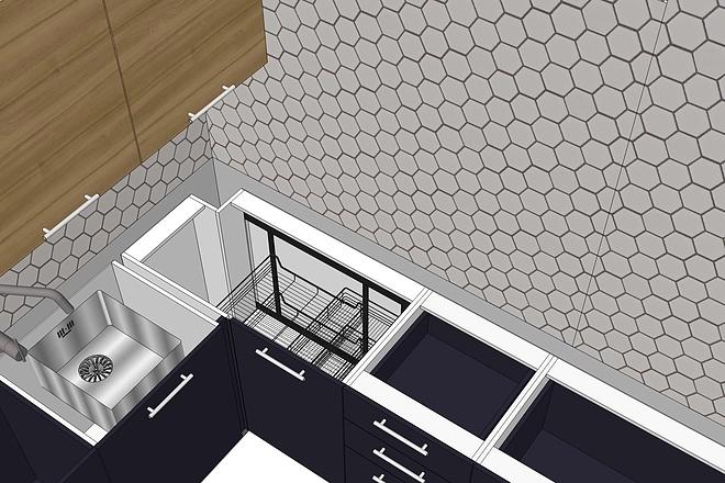 Дизайн-проект кухни. 3 варианта 14 - kwork.ru