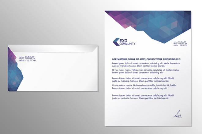 Разработаю дизайн комплекта конверт и бланк письма 2 - kwork.ru