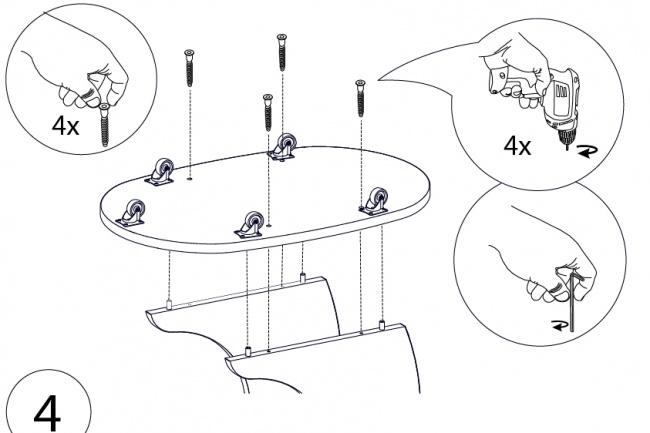 Схема, инструкция сборки мебели 30 - kwork.ru