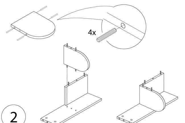 Схема, инструкция сборки мебели 34 - kwork.ru