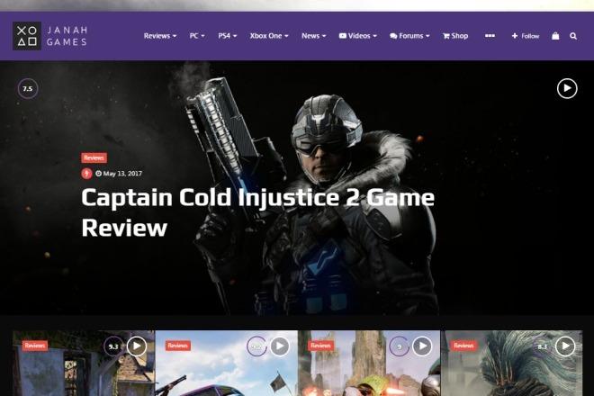 Magneto - новостная - журнальная multi concept Wordpress тема 2 - kwork.ru