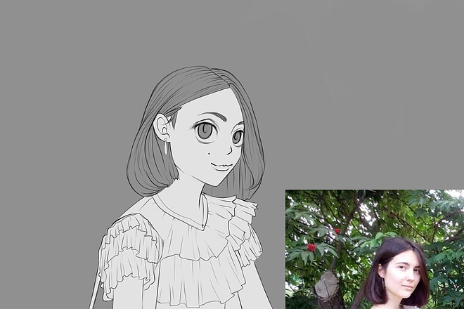Иллюстрационный портрет по фотографии в стилях Манга или Аниме 9 - kwork.ru