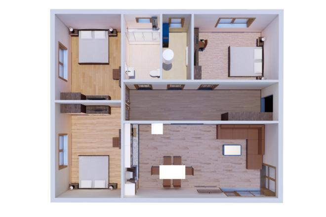 Фотореалистичная 3D визуализация экстерьера Вашего дома 121 - kwork.ru