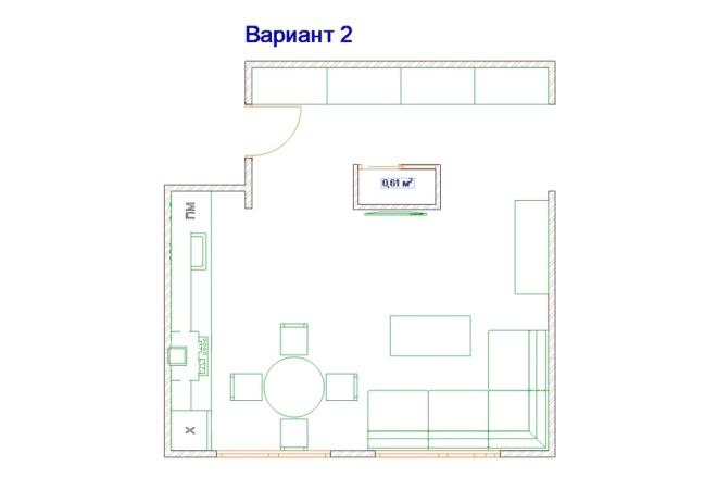 Планировочные решения. Планировка с мебелью и перепланировка 111 - kwork.ru