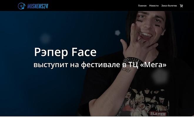 Создание одностраничника на Wordpress 22 - kwork.ru