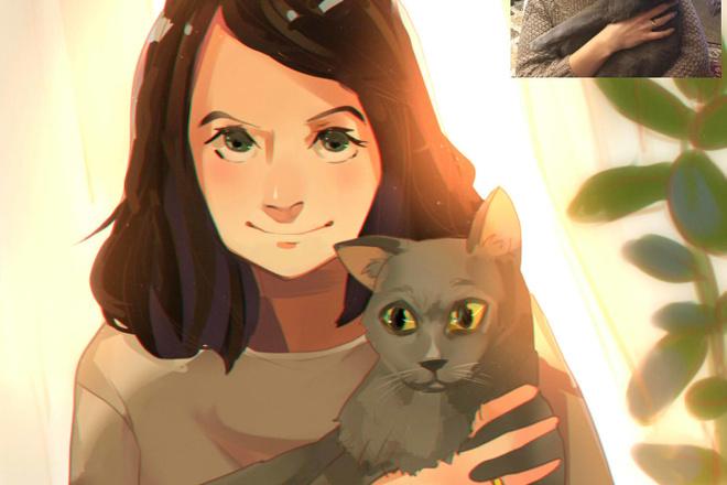 Создам ваш портрет в стиле аниме 16 - kwork.ru