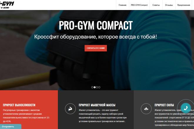 Создам современный адаптивный landing на Wordpress 19 - kwork.ru