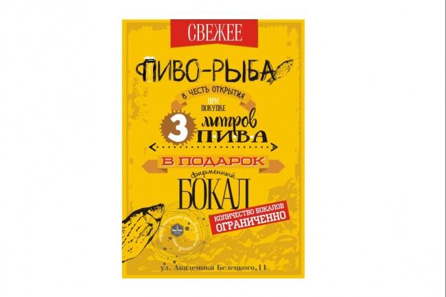 Постер, плакат, афиша 24 - kwork.ru