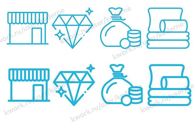 Нарисую 7 иконок в векторе 3 - kwork.ru