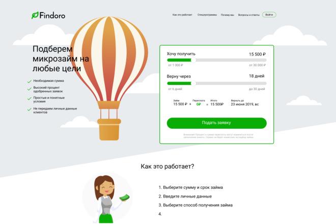 Верстка по PSD макету 5 - kwork.ru