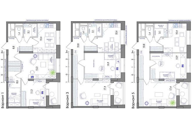 Планировка квартиры или жилого дома, перепланировка и визуализация 42 - kwork.ru