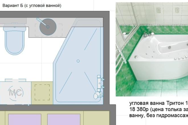 Планировочные решения. Планировка с мебелью и перепланировка 67 - kwork.ru