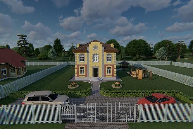 Фотореалистичная 3D визуализация экстерьера Вашего дома 162 - kwork.ru