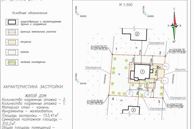 Схема планировочной организации земельного участка - спозу 14 - kwork.ru