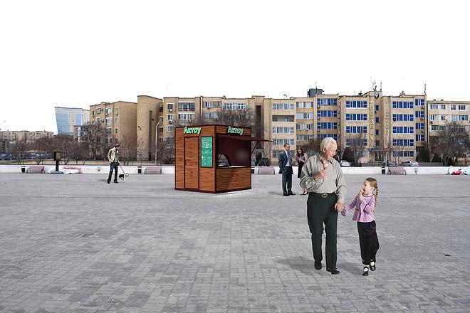 3D модель и визуализацию торгового места 1 - kwork.ru