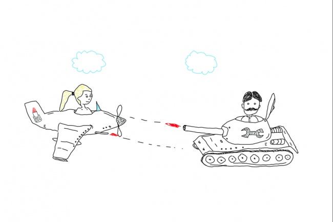 Быстро нарисую веселые иллюстрации 63 - kwork.ru