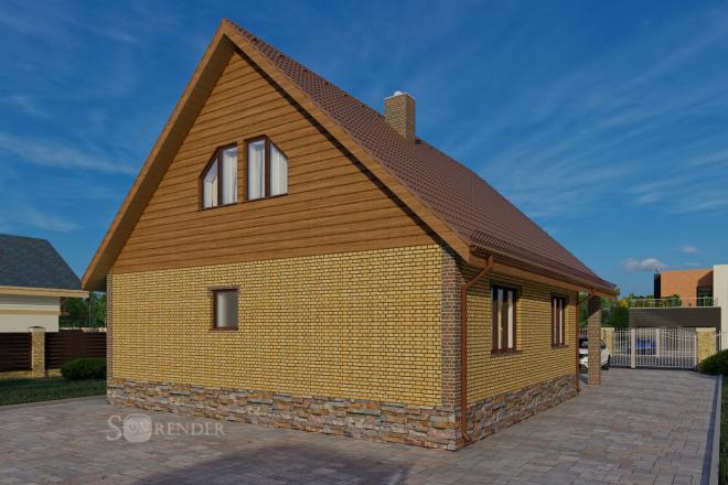 Фотореалистичная 3D визуализация экстерьера Вашего дома 53 - kwork.ru