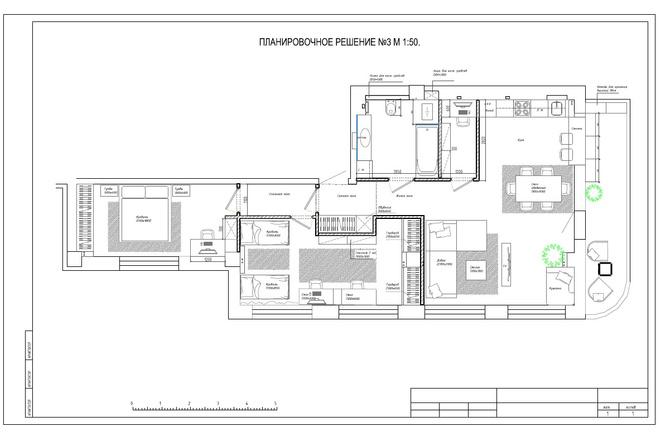 Планировочное решение вашего дома, квартиры, или офиса 2 - kwork.ru