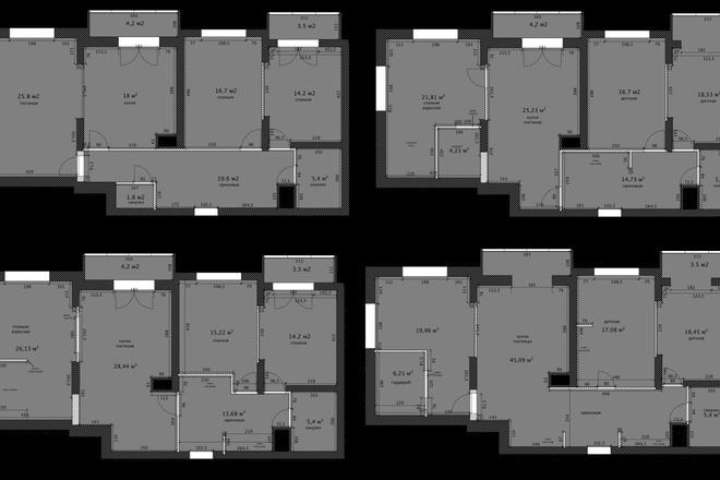 Интересные планировки квартир 7 - kwork.ru