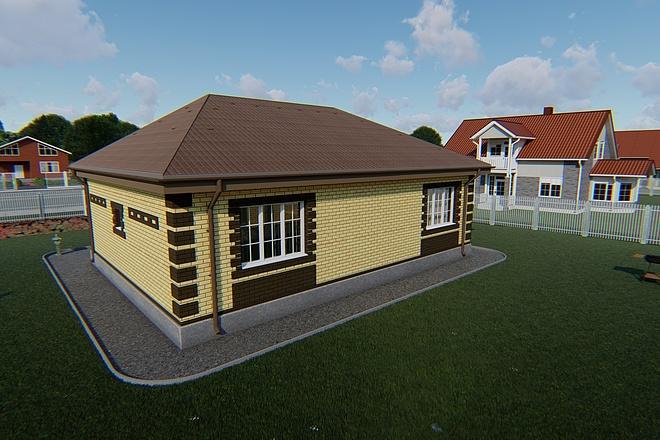 Фотореалистичная 3D визуализация экстерьера Вашего дома 170 - kwork.ru