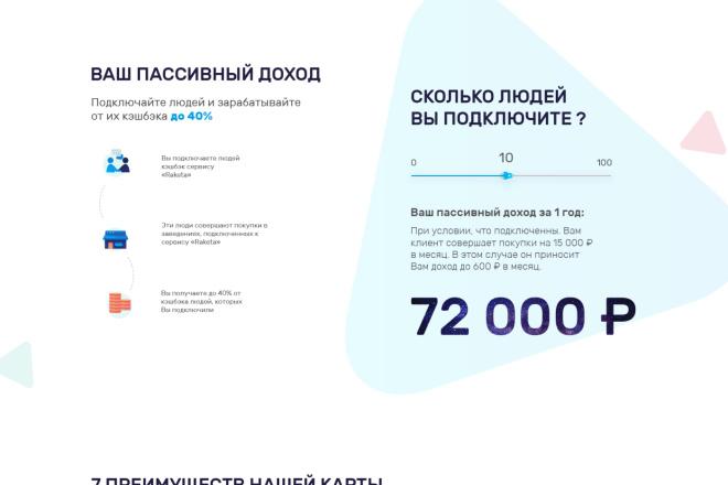 Дизайн страницы сайта 35 - kwork.ru