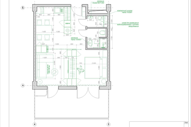 Планировочное решение квартиры, дома. Перепланировка. Планировка 24 - kwork.ru