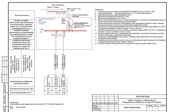 Выполню однолинейную схему электроснабжения 36 - kwork.ru