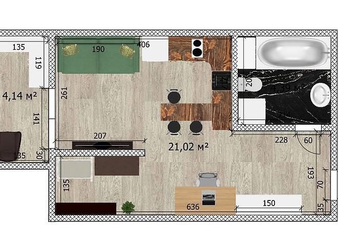 Интересные планировки квартир 61 - kwork.ru
