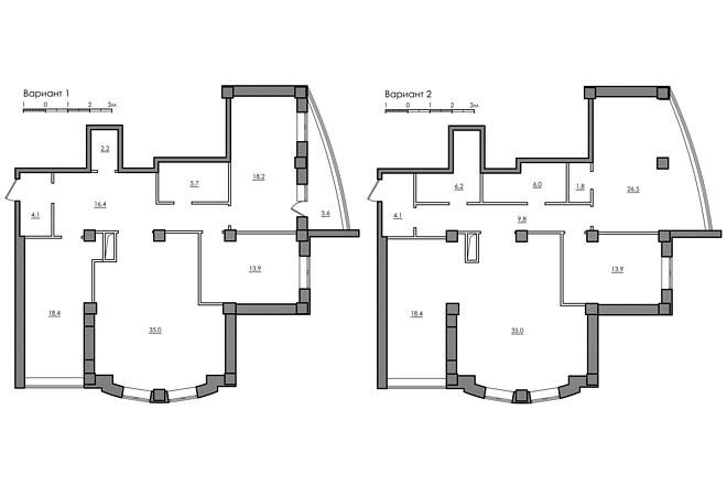 Планировка квартиры или жилого дома, перепланировка и визуализация 33 - kwork.ru