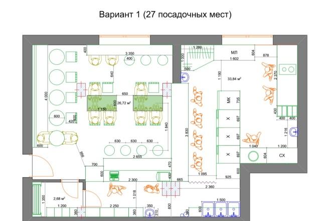 Планировочные решения. Планировка с мебелью и перепланировка 64 - kwork.ru